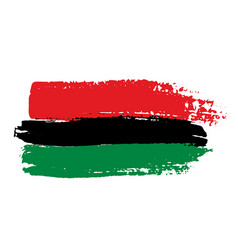 pan-african flag vector image