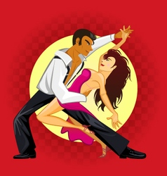 Salsa Dance vector image vector image