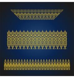set of seamless arabic ornate borders vector image vector image