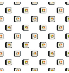 sushi pattern seamless vector image