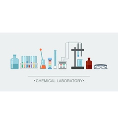 Banner chemical objects Chemical laboratory vector image vector image