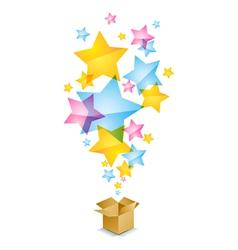 Box and stars vector image
