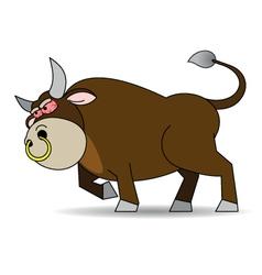 Bull furious vector image vector image