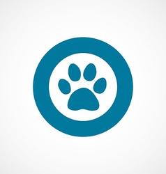 cat footprint bold blue border circle icon vector image vector image