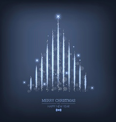 Christmas tree 2 vector image vector image