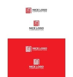 L letter logo vector image vector image
