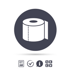 toilet paper sign icon wc roll symbol vector image
