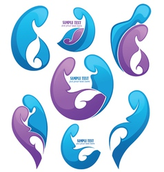 family and pregnancy emblems vector image vector image
