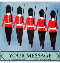 guardsmen marching vector image vector image