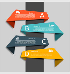 infographic template with elements and icons vector image