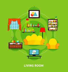 living room design vector image vector image