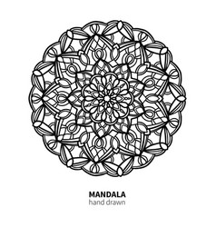 mandala flower drawing decorative boho vector image vector image