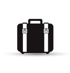 suitcase with straps black design vector image