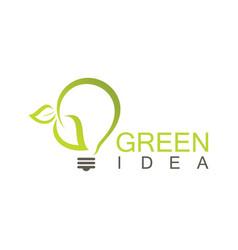 green idea logo vector image