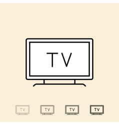 icon of television vector image vector image