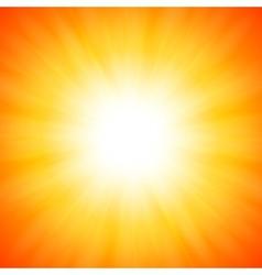 Orange shining sun vector image