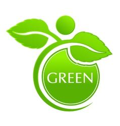 Plant seal logo vector image