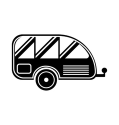 Trailer icon simple style vector image vector image