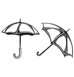 Umbrella collection vector image vector image