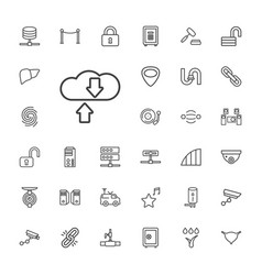 33 system icons vector