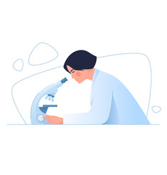 a woman medical scientist in a laboratory vector image
