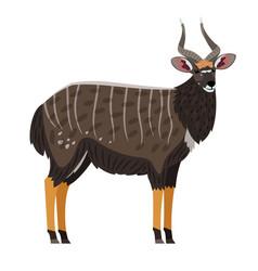 african antelope cartoon icon vector image
