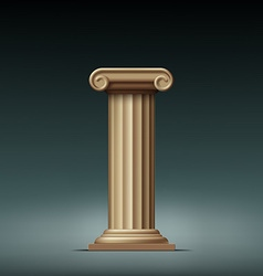 Antique beige column vector image