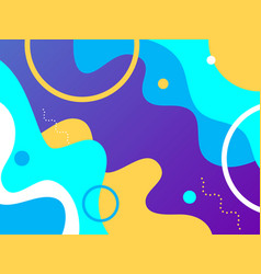 background template with abstract shapes and color vector image