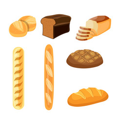 Bakery shop icons vector