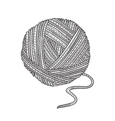 ball of yarn in boho style vector image