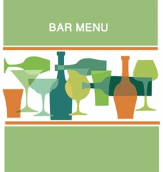 bar menu vector image