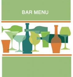 Bar menu vector