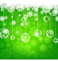 Beautiful green happy Christmas EPS 8 vector
