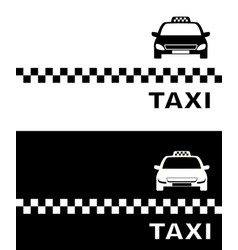 black and white business card taxi vector image