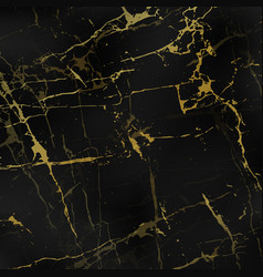 Black marble textures with gold vector