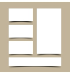 Blank business cards set vector image