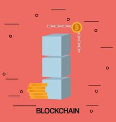 Blockchain concept design vector