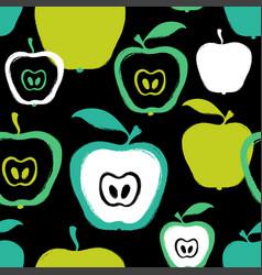 Brush grunge apple seamless pattern vector