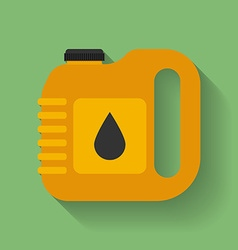 Canister of Car engine motor oil or lube Flat vector image