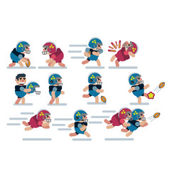 characters football game flat icon man cartoon vector image