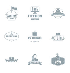 Choice of the government logo set simple style vector