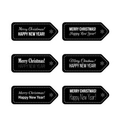 Christmas and new year typographical background vector