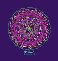 Colorful Isolated Circle Mandala Design vector