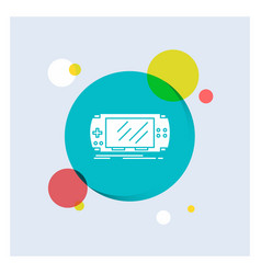 console device game gaming psp white glyph icon vector image