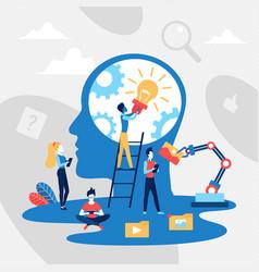Creative idea concept with abstract head vector