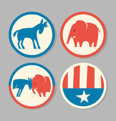 Democrat donkey republican elephant designs vector
