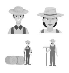 Design farm and arable symbol vector