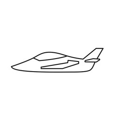 Design plane and military icon vector
