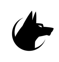 dog sign and symbol logo vector image