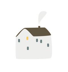 Doodle scandinavian house simple vector